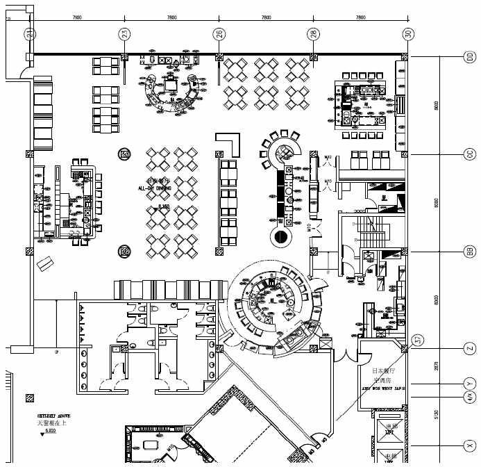 餐厅厨房设计平面图